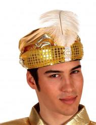 Chapeau de sultan arabe doré adulte