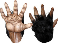 Gants gorille adulte marron