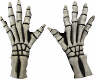 Gants squelette blanc adulte Halloween
