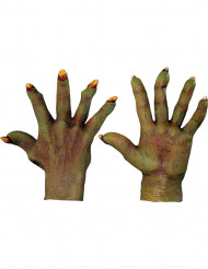 Gants monstre vert adulte Halloween