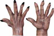 Gants monstre marron adulte Halloween