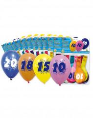 8 Ballons chiffre 50