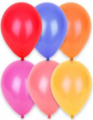24 Ballons de différentes couleurs 25 cm