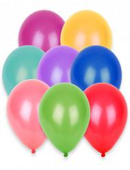 100 Ballons multicolores 27 cm