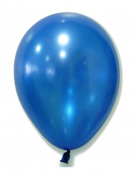 100 Ballons métalliques bleus 29 cm