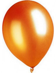 100 Ballons orange métallisé 29 cm