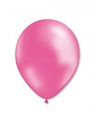 100 Ballons roses métallisés 29 cm