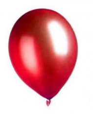 100 Ballons rouges métallisés 29 cm