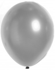 100 Ballons argenté métallisé 29 cm