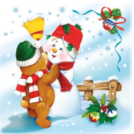 20 Serviettes Noël 33 x 33 cm
