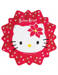 8 Assiettes Hello Kitty Noël
