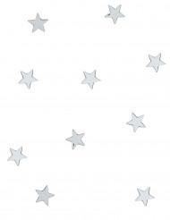 10 Mini miroirs étoiles argentés