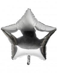 Ballon aluminium géant étoile argentée 80 cm