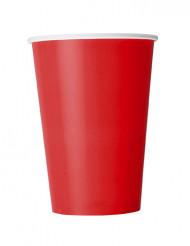 10 Gobelets en carton rouges 355 ml