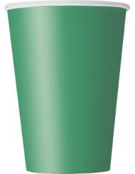10 Gobelets en carton vert émeraude
