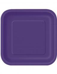 14 Grandes assiettes en carton violettes