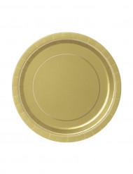20 Petites assiettes en carton or