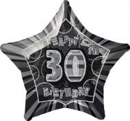 Ballon étoile gris Age 30 ans