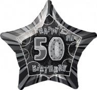 Ballon étoile gris Age 50 ans