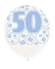 Ballons bleus Age 50 ans