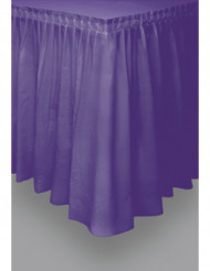 Jupe de table violette en plastique