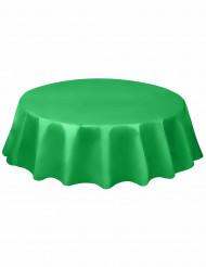 Nappe ronde en plastique vert émeraude
