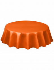 Nappe ronde orange en plastique