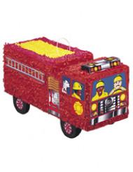 Piñata Camion de Pompier rouge