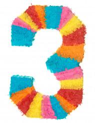 Piñata du chiffre 3 55 x 25 cm