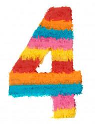 Piñata du chiffre 4 55 x 25 cm