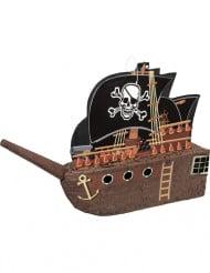 Pinata bateau de pirate tête de mort