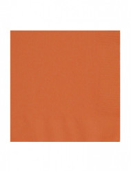 50 Serviettes orange 33 x 33 cm