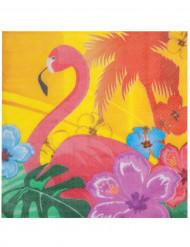 12 Serviettes en papier Flamant Rose 33 x 33 cm