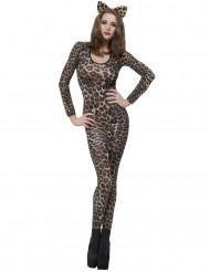 Déguisement léopard marron adulte