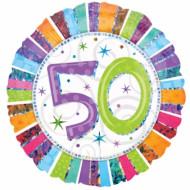 Ballon aluminium rond Age 50 ans