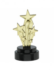 6 Statuettes étoiles filantes Hollywood 7.5 cm