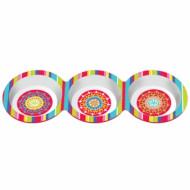 3 bols en plastique Mexico