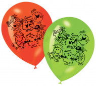 6 ballons imprimés Monsieur Madame™