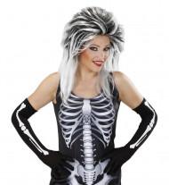 Gants longs squelette adulte