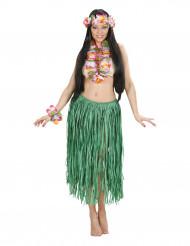 Set hawaï à fleurs adulte