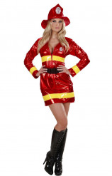 Déguisement pompier rouge femme sexy