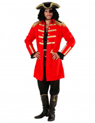Déguisement capitaine pirate rouge homme
