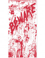 Décoration de porte en sang BEWARE 76 x 152 cm