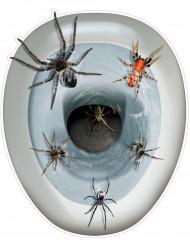 Décoration autocollante pour wc Araignées 30 x 43 cm