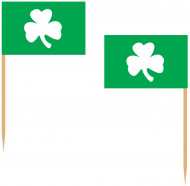 Pics verts trèfles Saint-Patrick