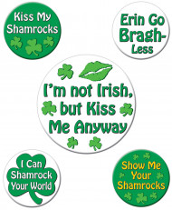 Badges humoristiques Saint-Patrick