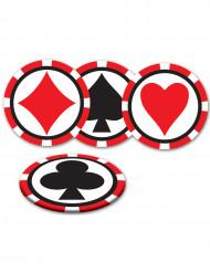 8 Sous-verres Casino 8,9 cm