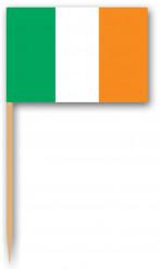 12 Pics en bois drapeau Irlande 6,35 cm