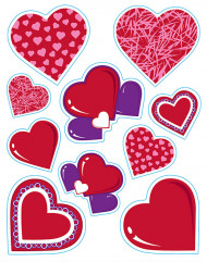 Stickers coeurs Saint-Valentin