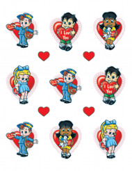 Stickers enfants Saint-Valentin